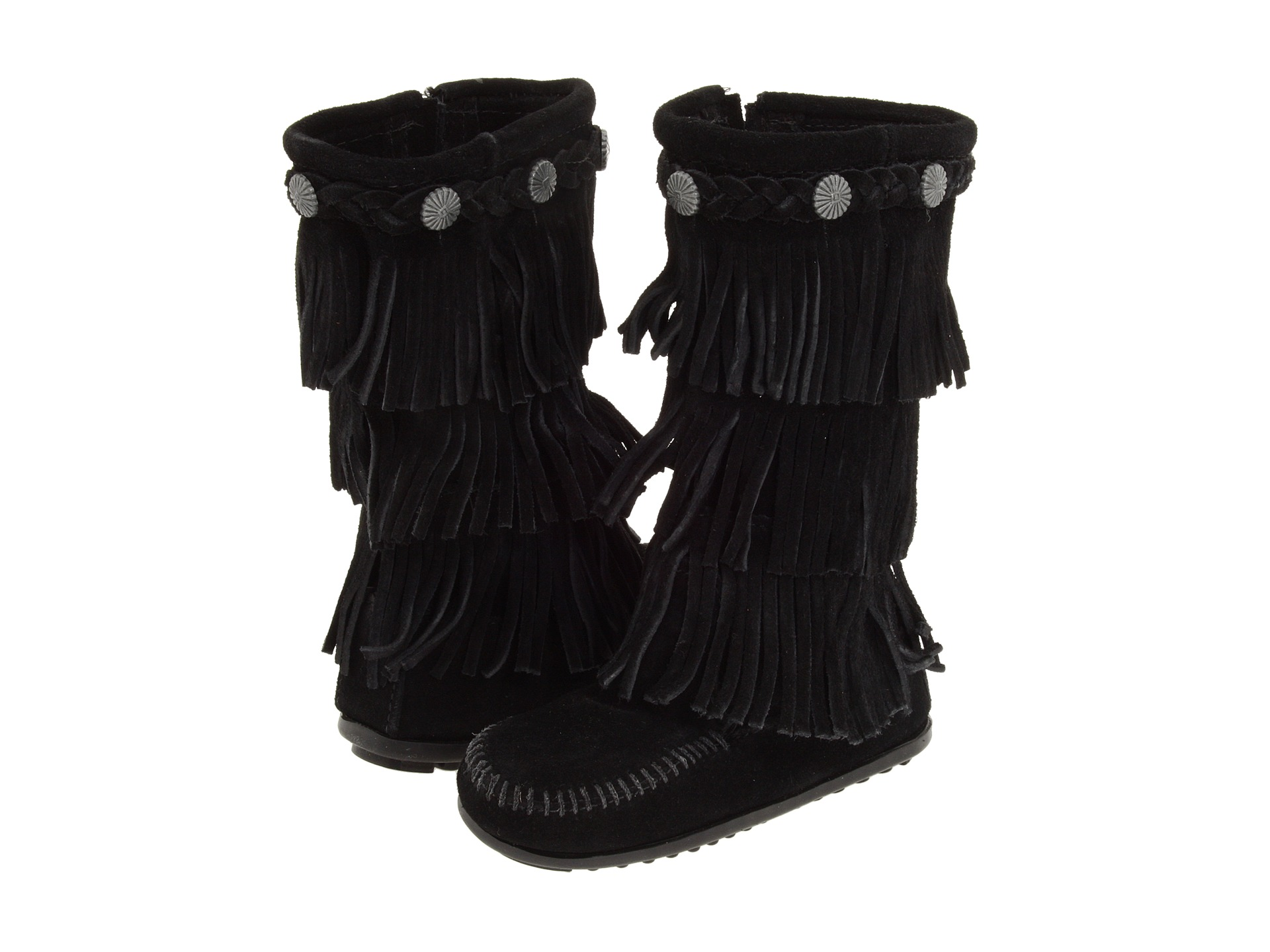 Minnetonka Kids 3-Layer Fringe Boot (Toddler/Little Kid/Big Kid ...