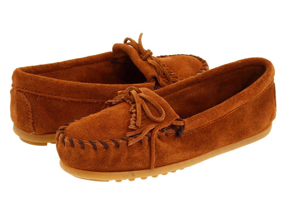Minnetonka Kids Kilty Suede Moc Toddler/Little Kid/Big Kid Brown Suede Kids Shoes