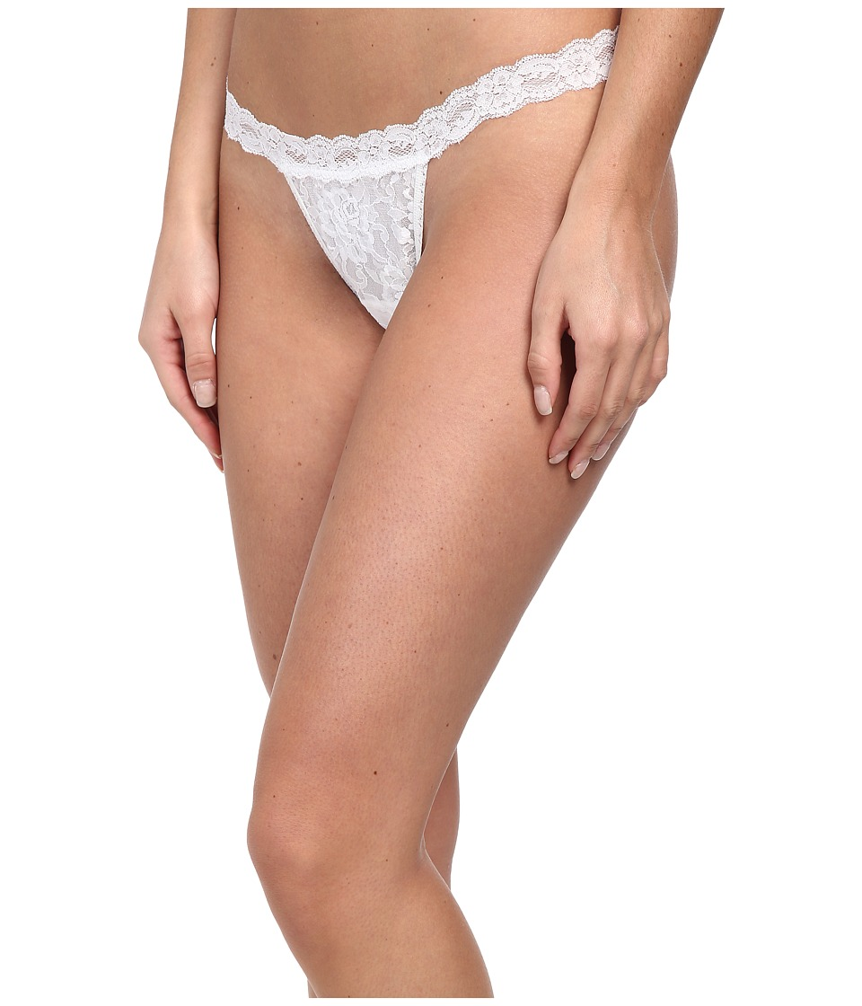 Hanky Panky Signature Lace G-String (White) Women's Under...