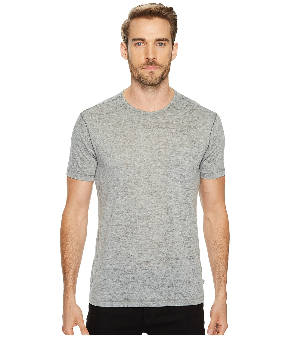 John Varvatos Star U.S.A. - Burnout S/S Crew Tee K303J4B (Grey Heather) Mens Clothing