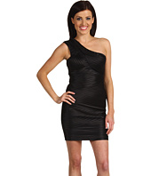 BCBGMAXAZRIA - One Shoulder Satin Bandage Dress
