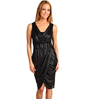 BCBGMAXAZRIA - Belted Silky Drape Dress