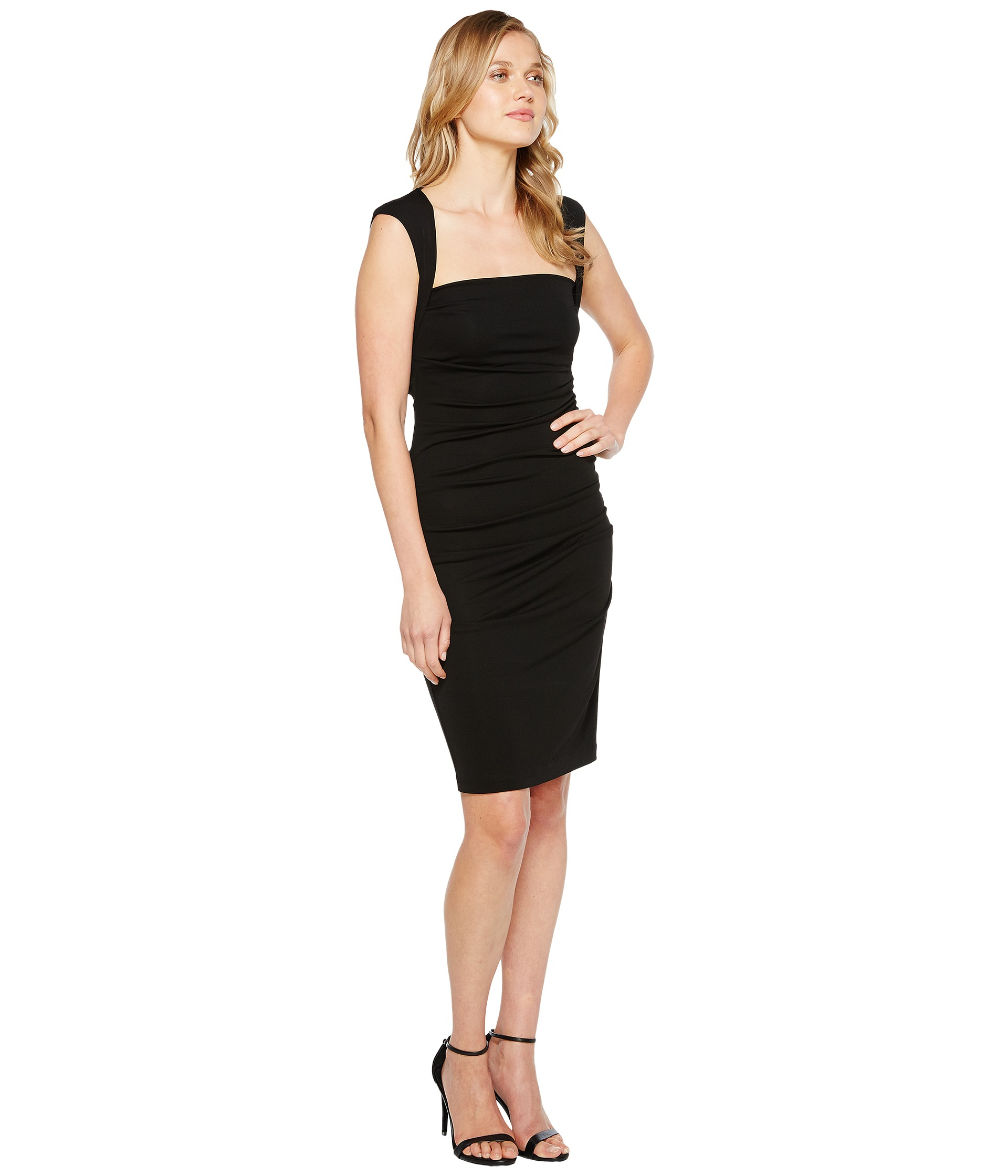 Nicole Miller Sleeveless Jersey Tuck Dress - Zappos.com Free ...