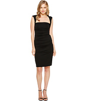 Nicole Miller - Sleeveless Jersey Tuck Dress