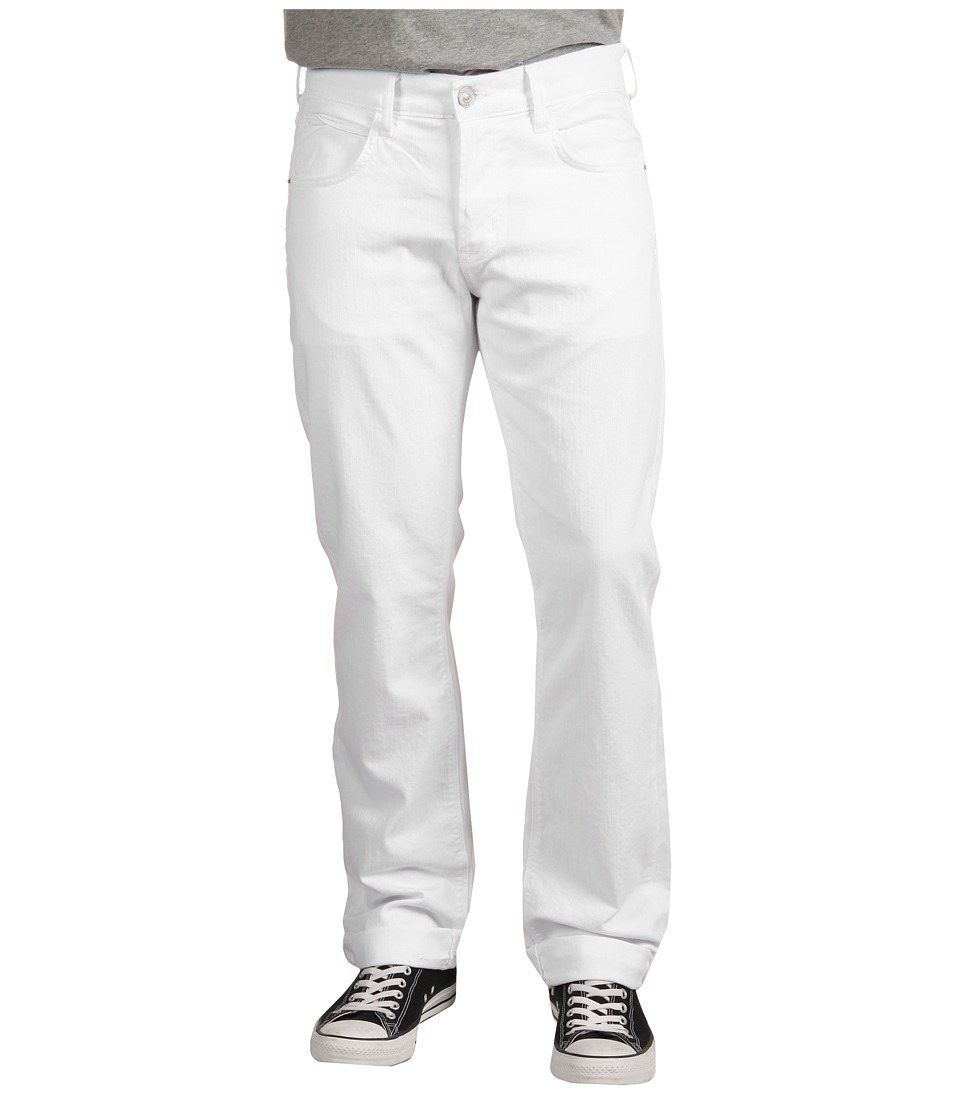 Hudson Byron 5 Pocket Straight Leg in White White Mens Jeans