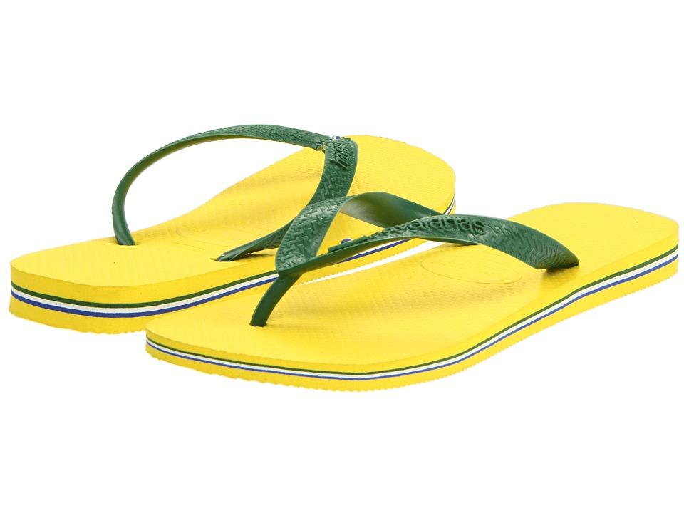Havaianas Brasil Flip Flops Citrus Yellow Mens Sandals