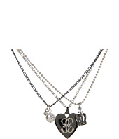 GUESS - Heart Crown Pearl Chain Necklace