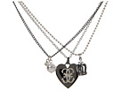 Heart Crown Pearl Chain Necklace