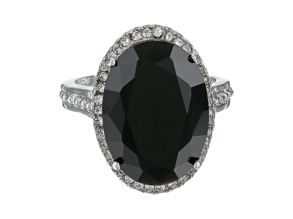 Guess 58869-21 (Jet/Crystals/Silver) Ring