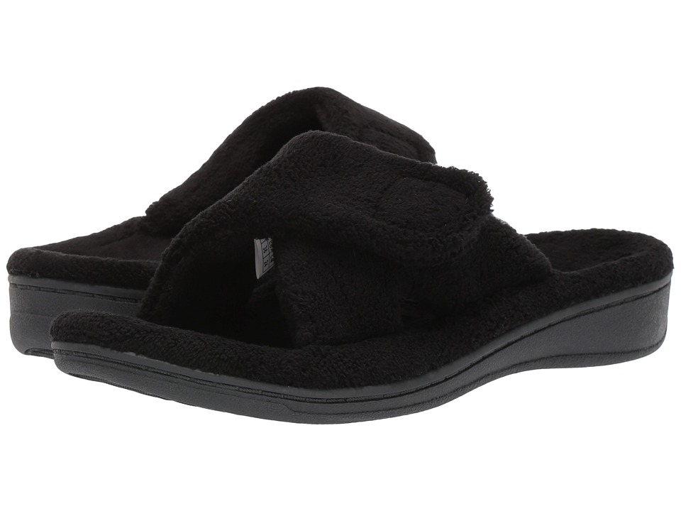 VIONIC - Relax Slipper (Black Terry) Women's Slippers