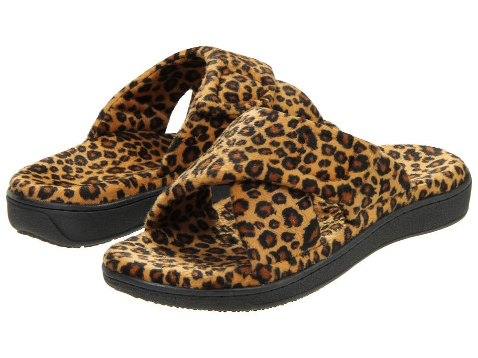 VIONIC Relax Slipper (Tan Leopard) Slippers