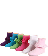 Jefferies Socks - Anklet With Cotton Tutu Trim 6-Pair Pack (Toddler/Little Kid/Big Kid)