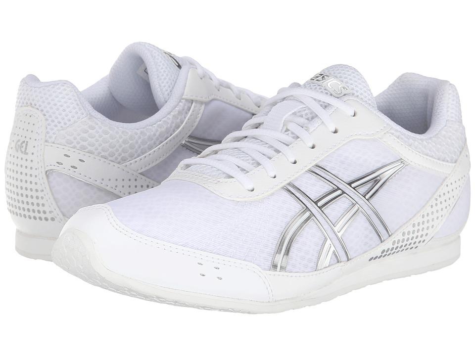 ASICS Kids Gel Cheer Ultralyte GS Little Kid White/Silver Girls Shoes