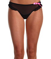 Betsey Johnson - Stretch Mesh Ruffle Thong w/ Bow