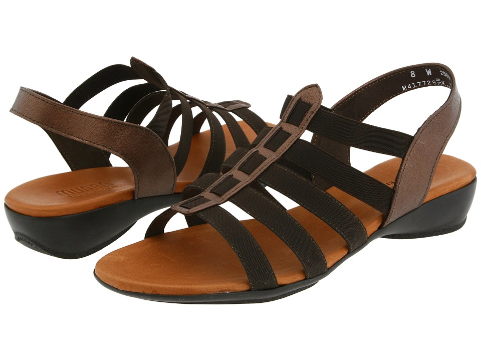 Munro American Darian (Bronze Leather/Brown Stretch) Women's Sandals, wide width womens sandals, wide fitting sandal, comfort, footwear, shoes, WW