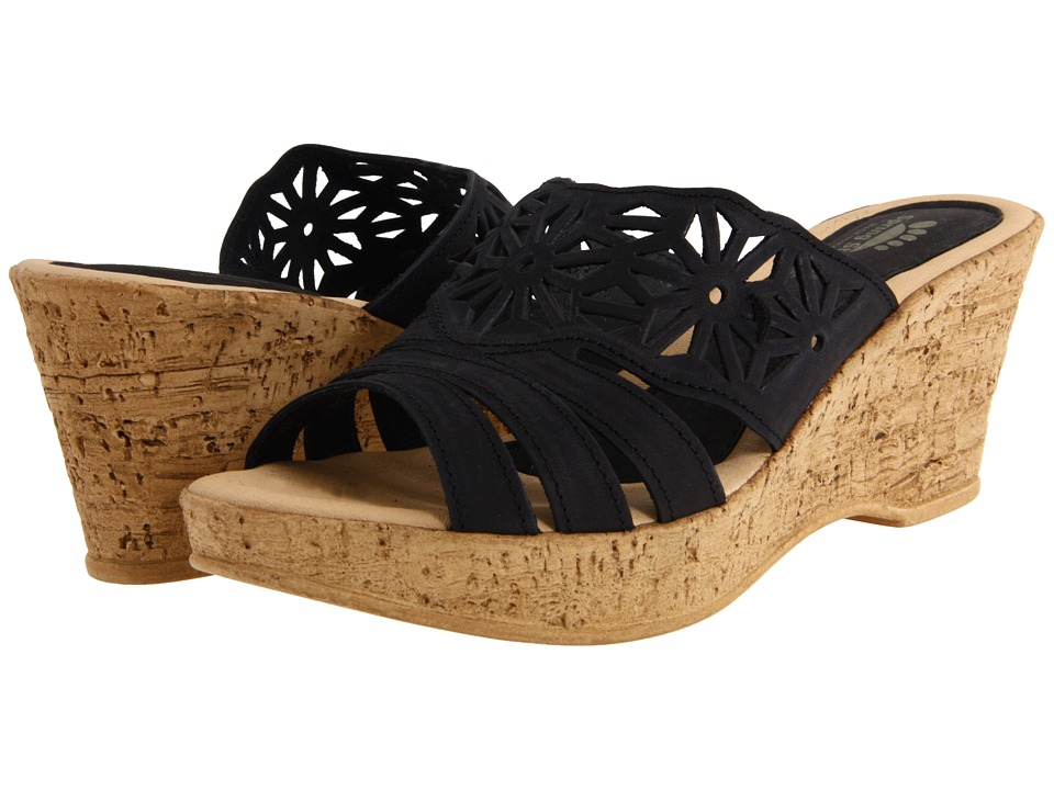 Spring Step Dora (Black) Women's Wedge Shoes