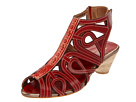 Spring Step - Flourish (Red Leather) - Footwear