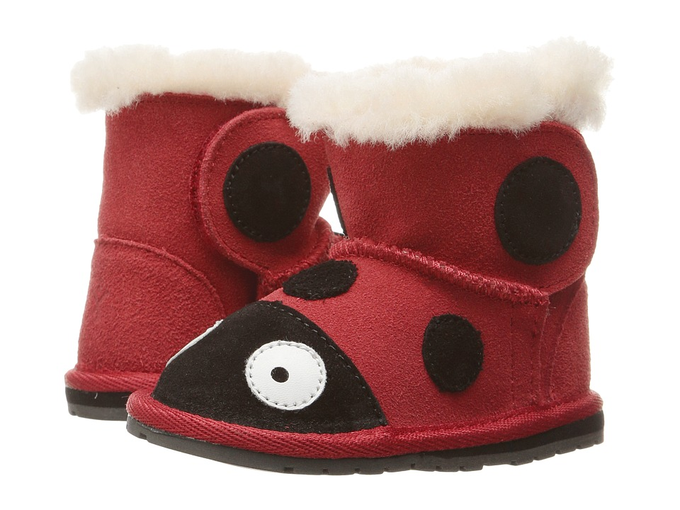 EMU Australia Kids Little Creatures Walkers (Infant) (Red) Girl's Shoes