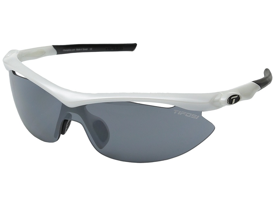 Tifosi Optics Sliptm Interchangeable 2011 (Pearl White/Smoke/AC Red/Clear Lens) Sport Sunglasses