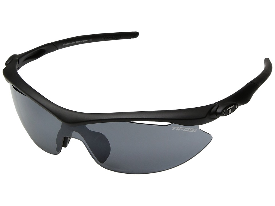 Tifosi Optics Sliptm Interchangeable 2011 (Matte Black/Smoke AC Red/Clear Lens) Sport Sunglasses