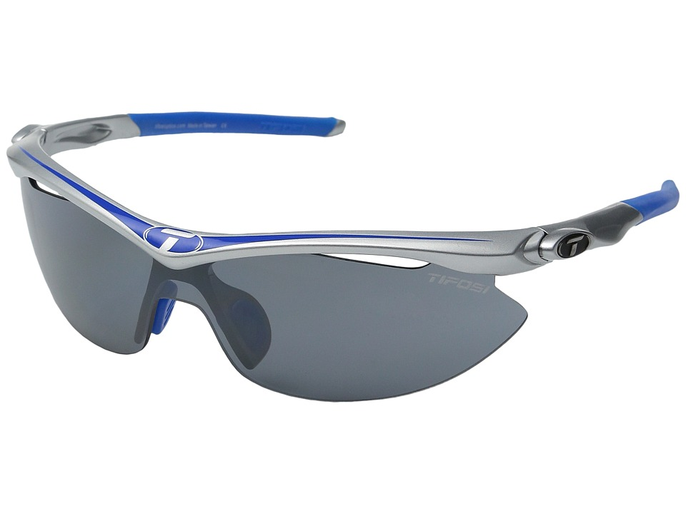 Tifosi Optics Sliptm Interchangeable 2011 (Race Blue/Smoke/AC Red/Clear Lens) Sport Sunglasses