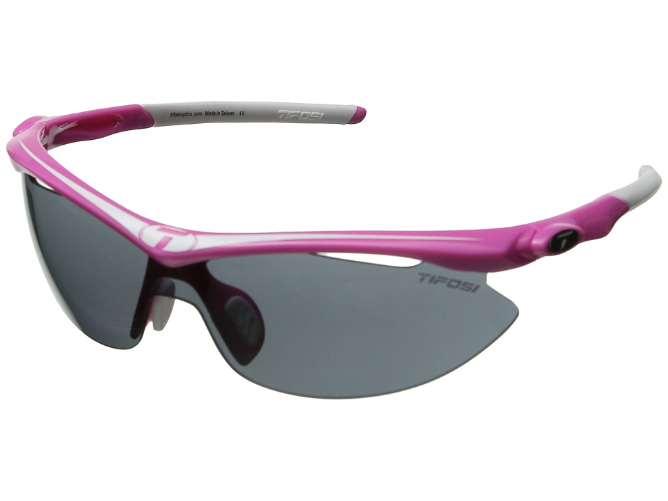 Tifosi Optics Sliptm Interchangeable 2011 (Neon Pink/Smoke/AC Red/Clear Lens) Sport Sunglasses