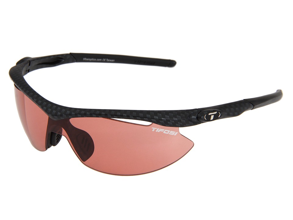 Tifosi Optics - Sliptm Fototectm - High Speed Red (Carbon/High Speed Red Fototec Lens) Sport Sunglasses
