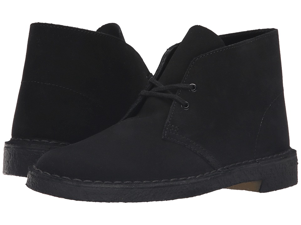 Clarks Desert Boot (Black Suede) Men's Lace-up Boots