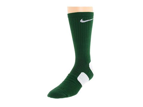 Cheap Nike Nike Elite Basketball Crew 1 Pair Pack Gorge Green White White