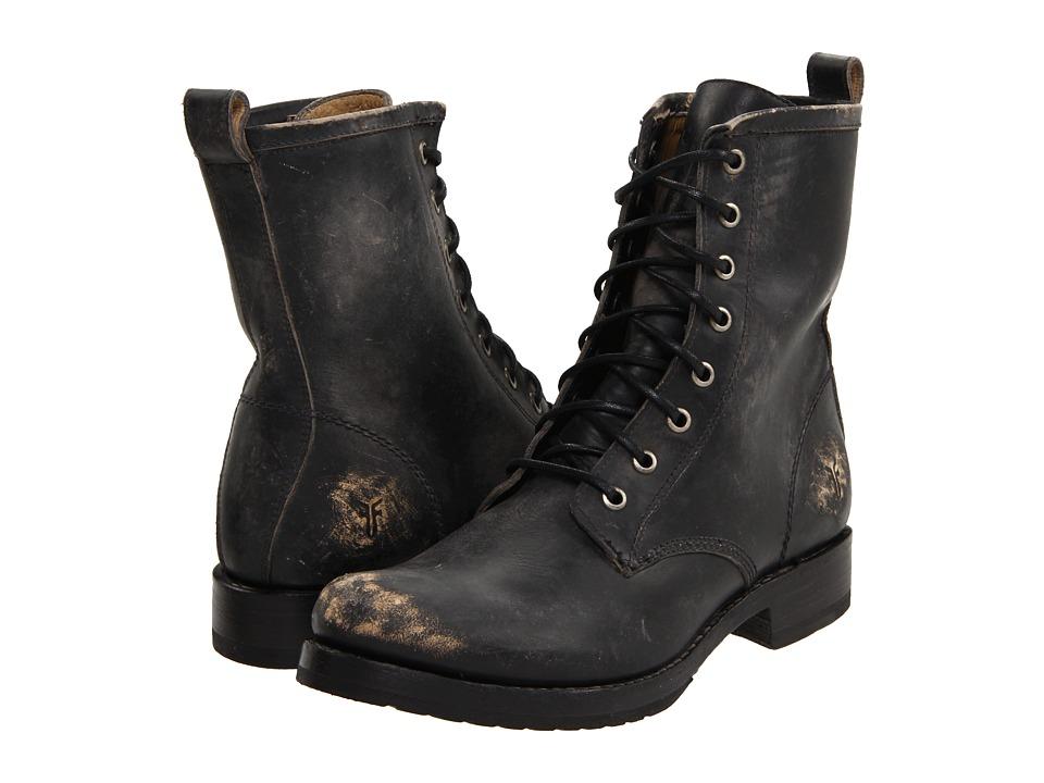 Frye Veronica Combat (Black Stone Wash)