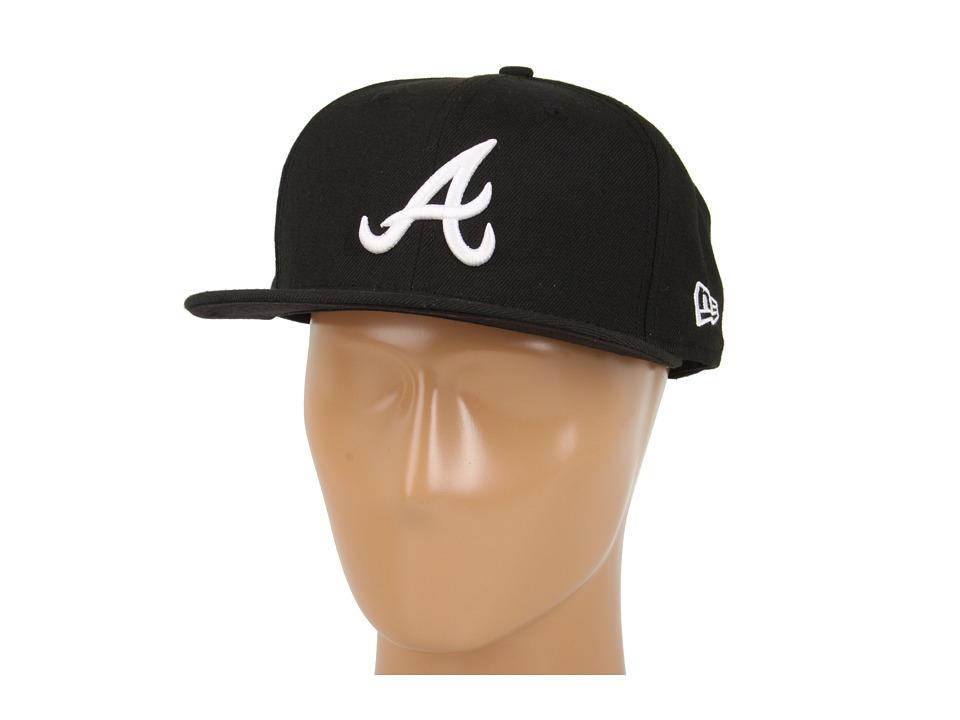 New Era 59FIFTY Atlanta Braves Black Caps