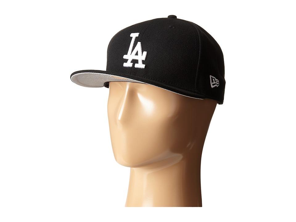 New Era 59FIFTY Los Angeles Dodgers Black Caps