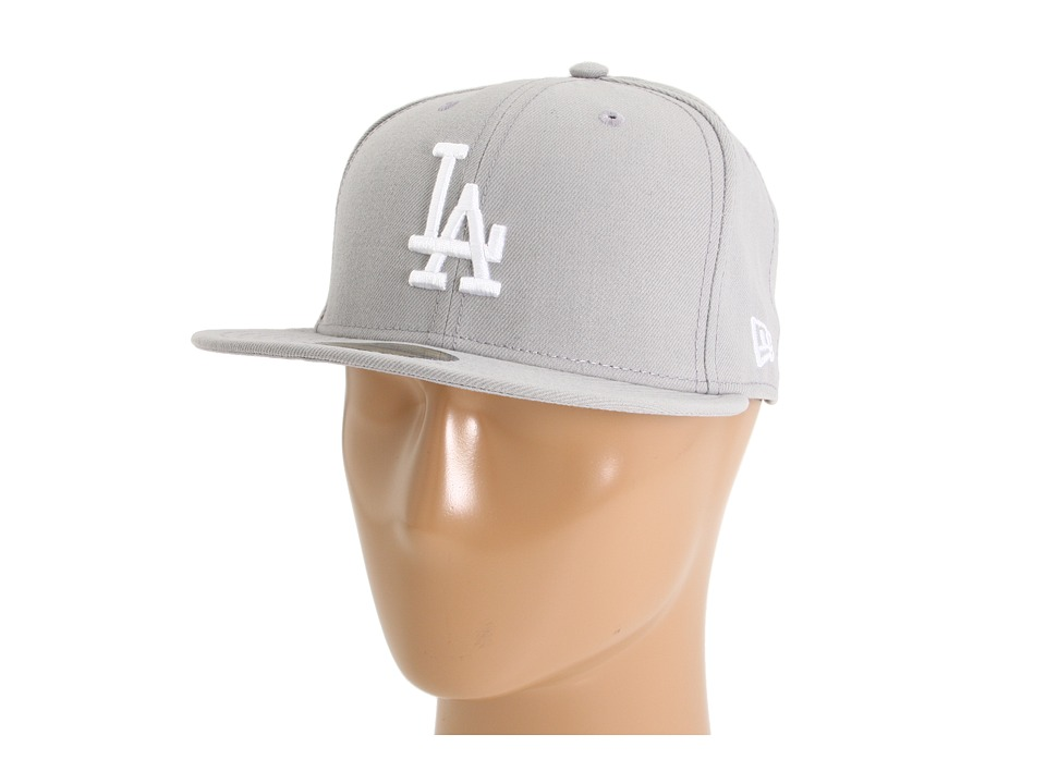New Era 59FIFTY Los Angeles Dodgers Gray/White Caps