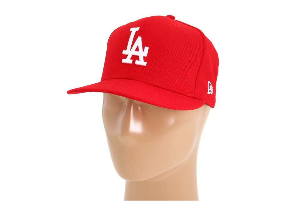 New Era 59FIFTY Los Angeles Dodgers Scarlet/White Caps