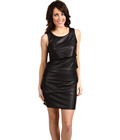 BCBGMAXAZRIA - Tiered Pleather Dress
