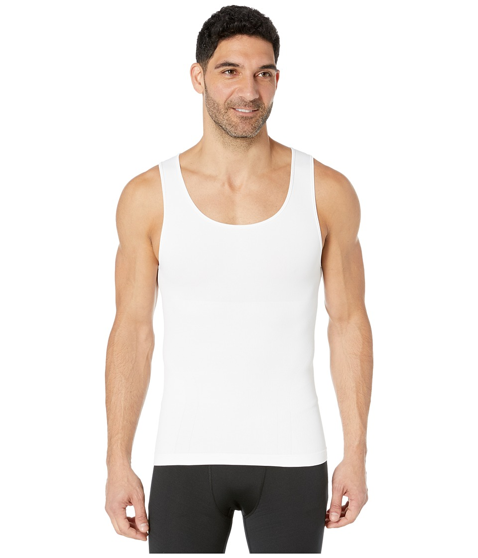 Spanx for Men Zoned Performance Tank (White) Men's Underwear
