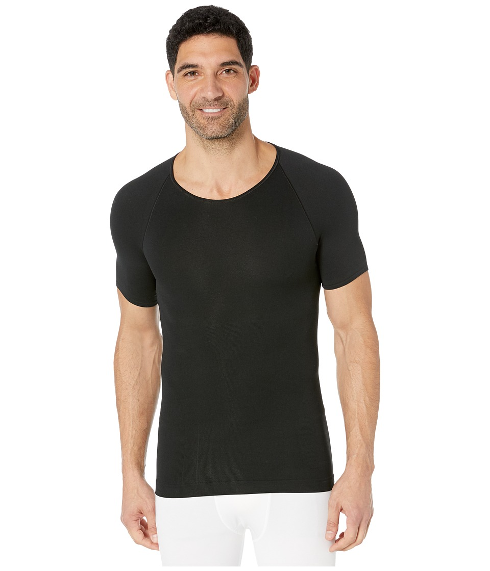 Spanx for Men Zoned Performance Crew Neck (Black) Men's Underwear