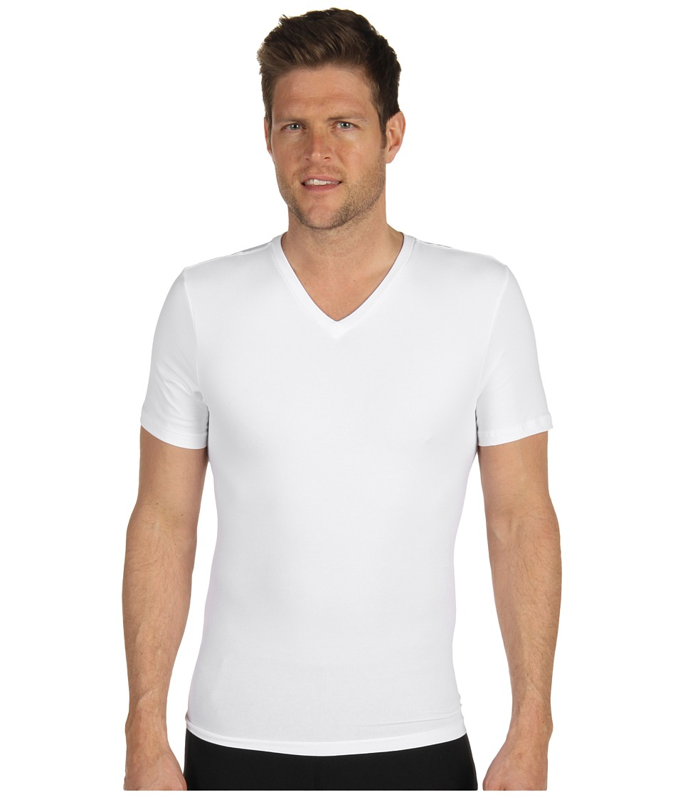 Spanx for Men Cotton Compression V Neck White Mens Underwear