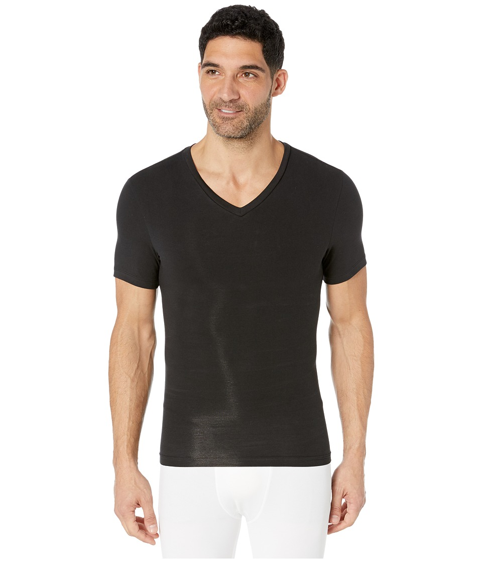 Spanx for Men Cotton Compression V-Neck (Black) Men's Underwear