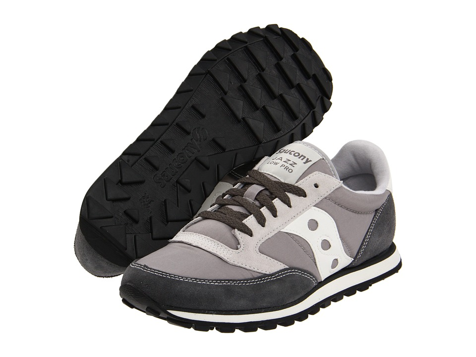 Saucony Originals - Jazz Low Pro (Grey/White) Mens Classic Shoes