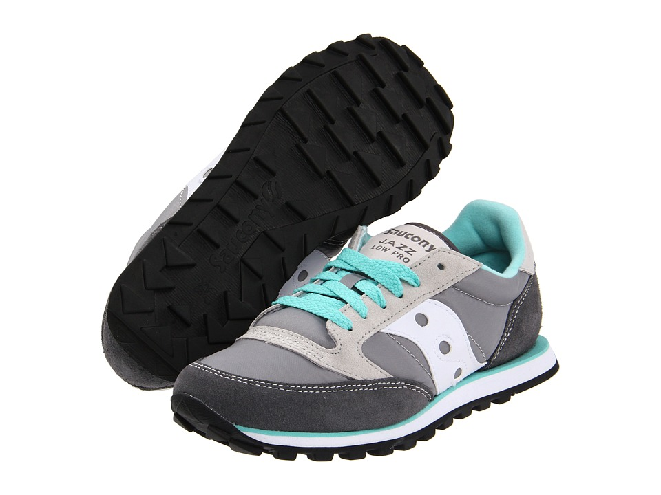 Saucony Originals Jazz Low Pro (Grey/White) Women's