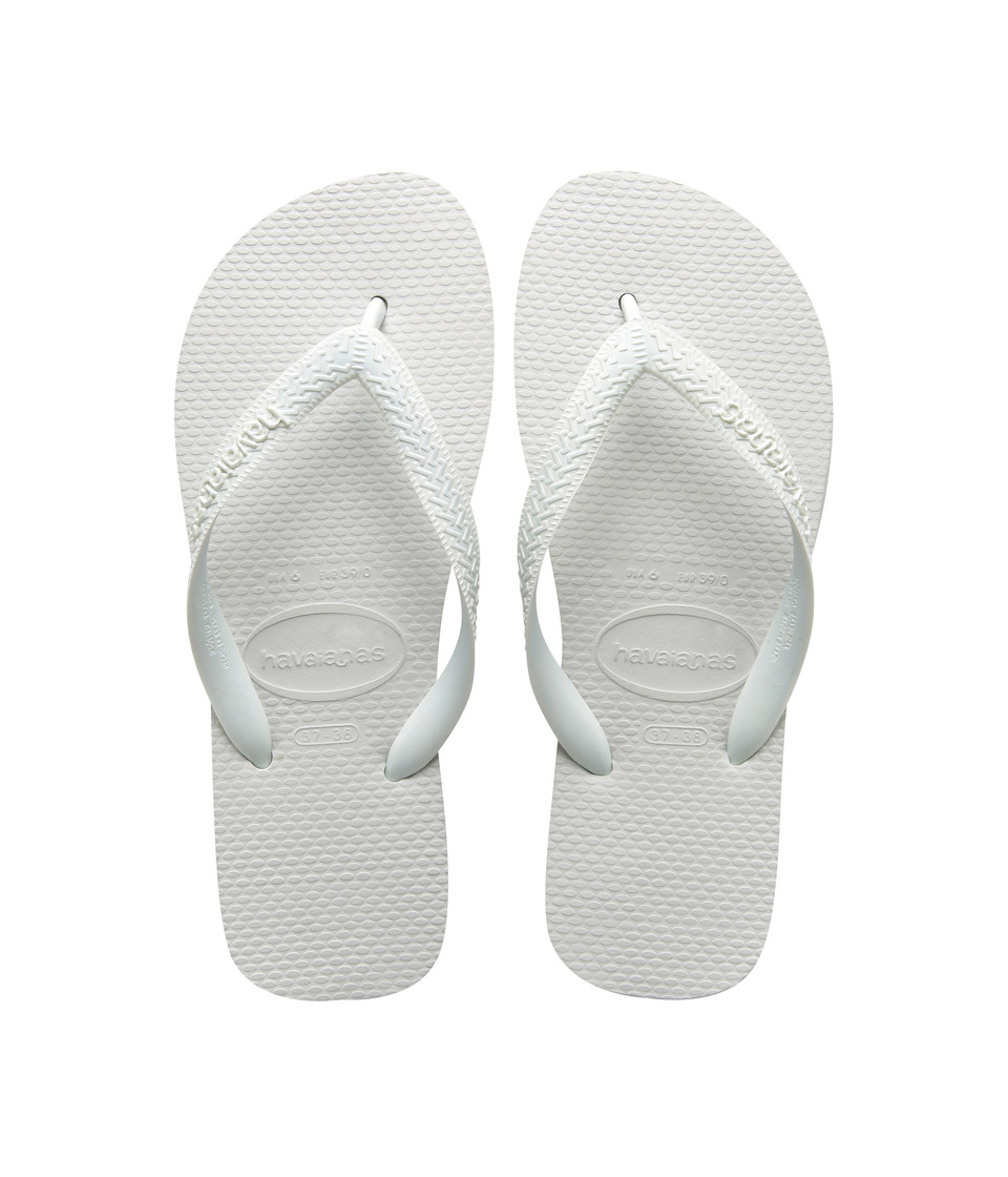 Havaianas Kids Top Flip Flops (Toddler/Little Kid/Big Kid) (White) Kid's Shoes