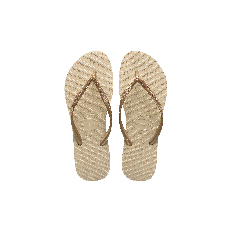 Havaianas Kids Slim Flip Flops Toddler/Little Kid/Big Kid Sand Grey/Light Gold Girls Shoes