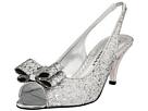 J. Renee - Rosina (Silver Glitter Fabric) - Footwear