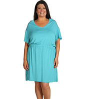 DKNYC - Plus Size S/S V-neck Dress