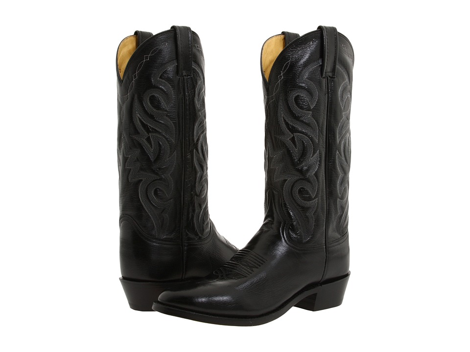 Dan Post - Milwaukee R Toe (Black) Cowboy Boots