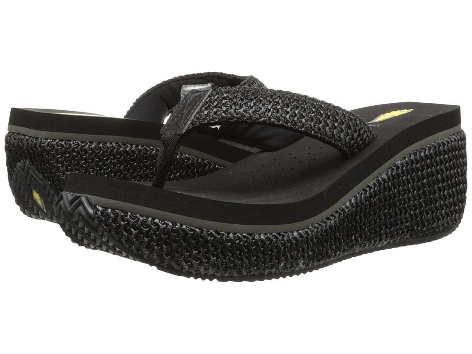 VOLATILE Island (Black) Wedge Shoes