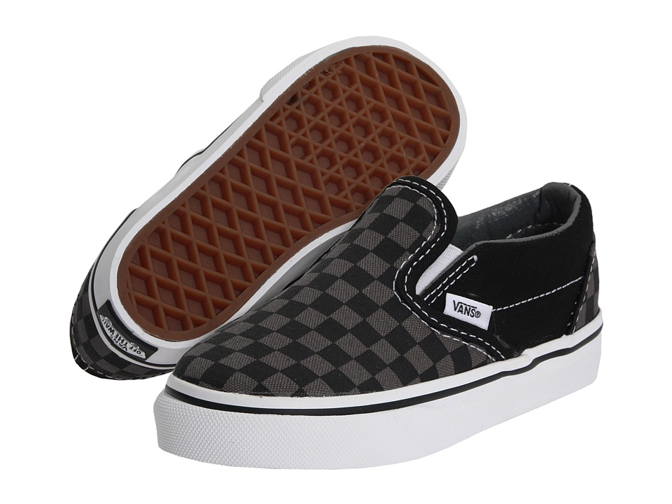 Vans Kids Classic Slip On Core Toddler Checkerboard BlackPewter Kids Shoes
