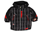 Obermeyer Kids - Giant Slalom Jacket (Toddler/Little Kids/Big Kids) (Black Plaid) - Apparel
