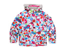 Spyder Kids - Girls Hottie Jacket F11 (Big Kids) (White Glass Print) - Apparel